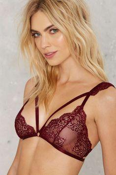 Nasty Gal Revelry Lace Bralette - Red - Back In Stock   Bras + Bralettes   Lingerie