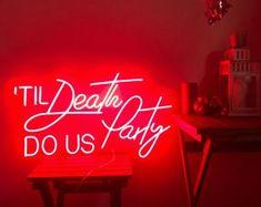 Happy Birthday Custom Party Neon Sign Acrylic Flex Led Custom | Etsy