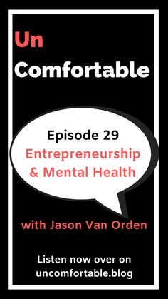 In this episode of Uncomfortable, I talk to Jason Van Orden. Jason is a successful entrepreneur who openly talks about his struggles with ADHD & anxiety. Jason speaks to how these mental health disorders affect his business and the tools that he uses to cope. Click the link to listen or subscribe on your favourite podcast player! #UncomfortableThePodcast #podcast #entrepreneurship #mentalhealth #anxiety #adhd