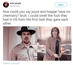 Stranger Things Hopper and Joyce fe7d5e7eb32