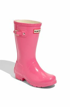 Hunter 'Original Gloss' Rain Boot (Toddler, Little Kid & Big Kid)