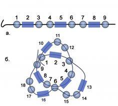 Техники плетения шнуров из бисера / Колье, бусы, ожерелья / Biserok.org