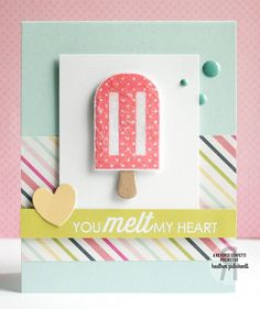 Want perfect popsicles every time?  The Let's Chill Confetti Cuts die set cuts out the popsicle and popsicle stick from the Let's Chill stamp set with precision and detail for impossibly easy and cute cuts every time!