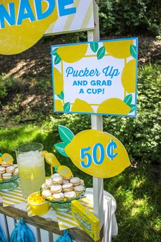 Lemonade Stand for a Cause - Just Add Confetti Lemonade Stand Sign, Kids Lemonade Stands, Pink Lemonade Party, Lemonade Wedding, Lemonade Bar, Projects For Kids, Crafts For Kids, Lemon Party, Lemon Cookies