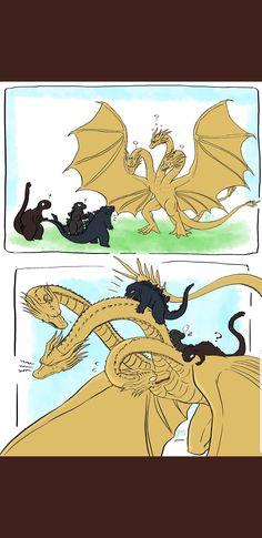 All Godzilla Monsters, Godzilla Comics, Godzilla Vs, Types Of Dragons, Japanese Monster, The Ancient One, Pokemon Comics, Kirito, Toothless