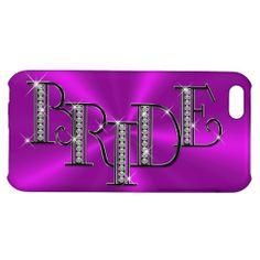 Diamond Bride Jewelry Glossy Finish iPhone 5C Case.  http://www.zazzle.com/bride_diamond_jewelry_on_fuchsia_satin-256731445229515185?rf=238575087705003771