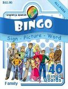 Great for Finger Spelling Practice! Family Bingo is a great way to teach and learn vocabulary for family members. Classroom tested, this Bingo game teaches American Sign Language, Spanish and English in an easy to learn and fun way. A GREAT way to teach signs and vocabulary describing members of the family. Bingo sets includes three language categories (American Sign Language, English and Spanish) plus one category of pictures that coincide.