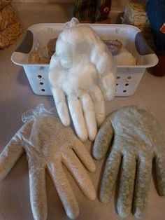 Sensory Hands...These are cheap and easy to make and virtually free to make. I used non-latex gloves that were donated to me. I filled ea...