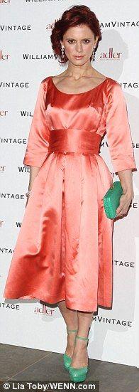 Emilia Fox in vintage 1957 Christian Dior dress.