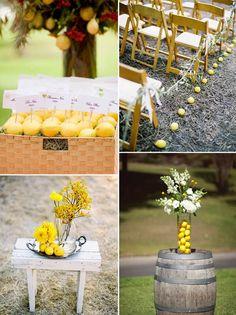 lemon wedding ideas @Amandeep Singh Kaur Samra they have you covered