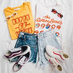 "24.1k Likes, 80 Comments - Urban Outfitters (@urbanoutfitters) on Instagram: ""The easiest (and cutest!) #OOTD for spring: denim shorts, graphic tees, and @vans. ☀️ #UOonYou"""