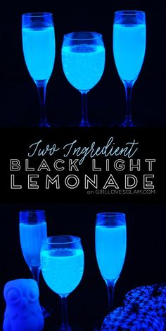 This black light lemonade will definitely be the coolest thing you serve at your parties! One of my favorite Halloween recipes! This black light lemonade will definitely be the coolest thing you serve at your parties! One of my favorite Halloween recipes! Halloween Bebes, Fete Halloween, Halloween Food For Party, Halloween Sweet 16, Halloween Drinks Kids, Halloween 2019, Halloween Costumes, Glow Party Food, Neon Party Foods