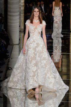 Zuhair Murad bridal dress at Couture Fashion Week 2016 (All Runway Looks)
