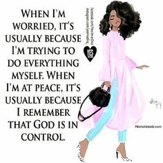 "No matter what you may be going thru ""God is in Control""! 🙏🏽 traciessparkle fivedollars like tagafriend share comment godisincontrol blessed thankful Motivacional Quotes, Faith Quotes, Girl Quotes, Woman Quotes, Great Quotes, Qoutes, Spiritual Quotes, Positive Quotes, Positive Thoughts"