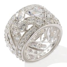 wide diamond band ring - Google Search