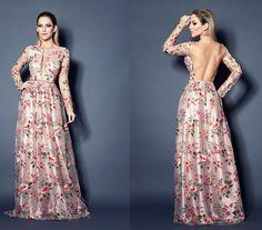 vestido de festa estampado floral