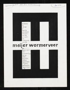 Jurriaan Schrofer, Meijer Wormerveer, 1956