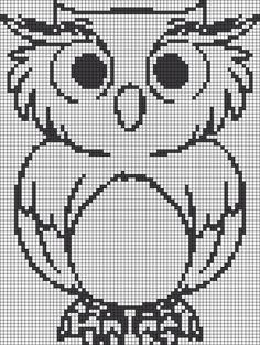 Alpha friendship bracelet pattern added by owl cartoon bird barn. Cross Stitch Owl, Cross Stitch Animals, Cross Stitch Kits, Cross Stitch Charts, Cross Stitching, Cross Stitch Patterns, Filet Crochet Charts, Crochet Cross, Knitting Charts