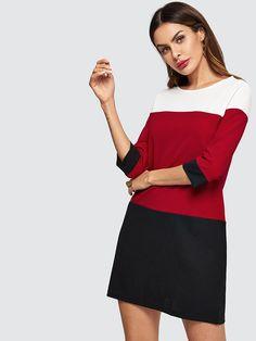 96ceeb2f180 Шеин белый красный и черный шить для женщин платья для вырезать шить туника  платье 2019 весна