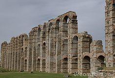 Roman Aqueduct Ruins - Merida, Spain