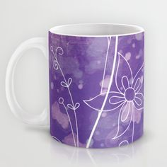 Midnight Spring Mug by Jollybird Designs Tea Pots, Whimsical, Coffee Mugs, Spring, Tableware, Design, Dinnerware, Dishes, Tea Pot