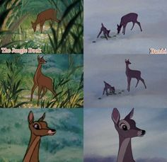 Quando la Disney copia se stessa: Il libro della giungla e Bambi.