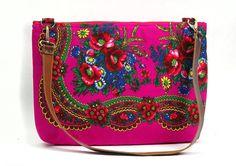 Laptop Bag, Fabric Laptop bag, 17 inch, Leather Shoulder strap, Pink Floral