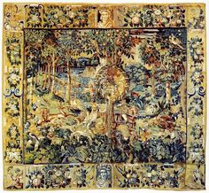 Tapestry with the hunting scene and the coat of arms of Dymitr Chalecki by Anonymous from Flanders after Stradanus, fourth quarter of 16th century, Wawel Royal Castle. #16thcenturytapestry #flemishtapestry #wawel #coatofarms #heraldic Great Names, Coat Of Arms, 16th Century, Anonymous, Bohemian Rug, Vintage World Maps, Hunting, Castle, Scene