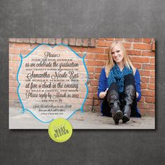 Items similar to Graduation Announcement / Invitation: Digital Printable Design / Photo Announcement / Male Graduation / Boy Announcement on Etsy Graduation Announcements, Graduation Invitations, Printable Designs, Printables, Five S, Card Sizes, Printing Services, Your Cards