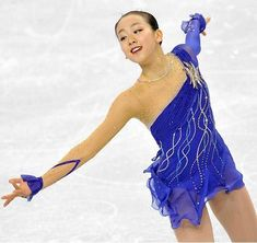 Mao Asada --Blue Figure Skating / Ice Skating dress inspiration for Sk8 Gr8 Designs.
