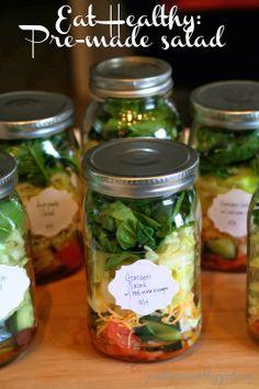 Eat healthy: pre-made salad