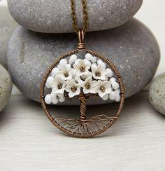 Albero-di-vita collana ciondolo filo di rame di JewelryFloren