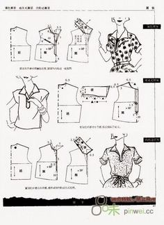 Modeling elements of women's clothing. Discussion on LiveInternet - Russian Service Online Diaries Sewing Lessons, Sewing Hacks, Sewing Tutorials, Sewing Crafts, Sewing Projects, Pattern Cutting, Pattern Making, Modelista, Dress Making Patterns