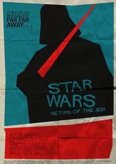 Star Wars: Return of the Jedi by Saul Bass. Star Wars Poster, Darth Vader Poster, Poster S, Saul Bass Posters, Film Posters, Illustration Photo, Illustrations, Star Wars Jedi, Star Wars Art