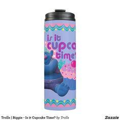 Trolls   Biggie - Is it Cupcake Time? Thermal Tumbler
