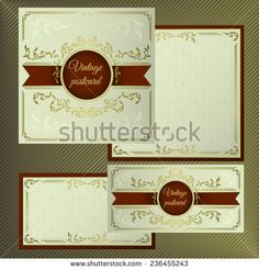 Stock Images similar to ID 178721570 - vector wedding card or...