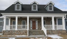 Custom Single Level/Rancher/Front Porch/Stone House/ Cape Cod
