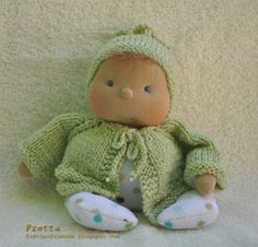 "9 / 22 cm Soft Sculptured Cloth Baby Doll by FrettasLovableDolls, $44.00 9"" / 22 cm Soft Sculptured Cloth Baby Doll in Soft Green & PolkaDots. Child friendly miniature floppy Baby."