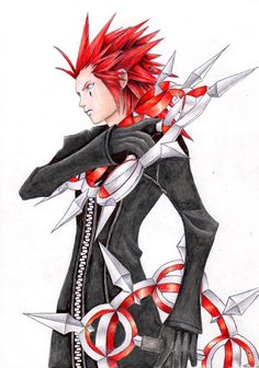 Axel... well anime guys with big red hair...
