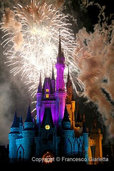 Disney Fireworks@ hk-place where childhood stage dreams happens..imagine at my…