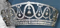 Gorgeous Diamond Tiara, Princess Hilda of Luxembourg, married Grand Duchesse of Baden