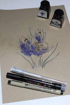 "Day 11: Alcroque (Azafrán silvestre) ""Crocus serotinus""   #InkTober #InkTober2016 #InkToberEspaña #FloraDaGaliza Inktober, Turntable, Music Instruments, Drawings, Record Player, Musical Instruments, Sketches, Drawing, Portrait"
