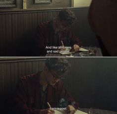 """And like all lovers and sad people, I am a poet."" Anamorphosis and Isolate — ― Kill Your Darlings (2013)"