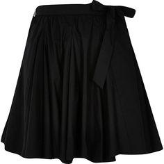 Black full hem mini skirt