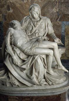 View Of Michelangelos Famous Sculpture Canvas Print / Canvas Art by James L… Miguel Angel, Michelangelo Pieta, La Pieta, Famous Sculptures, Famous Art, Our Lady, Love Art, Les Oeuvres, Art History