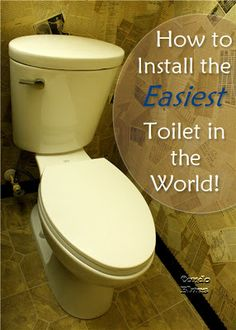 How to remove an old toilet and install a new toilet the easy way.