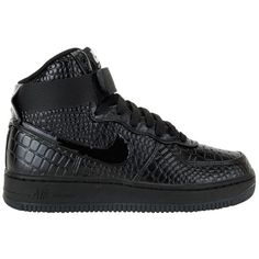 Nike Womens Air Force 1 07 High Premium ($110) ❤ liked on Polyvore featuring shoes, sneakers, nike, nike trainers, nike sneakers, nike shoes y nike footwear