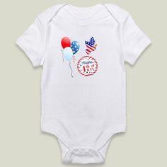 4th of July Onesy by haroulita on BoomBoomPrints #4thofjuly #4thjuly #happy #happy4thjuly #babyclothes #babygirl #babyboy #babyboygift #onesies #usa #usaflag #balloons #celebration #celebrate