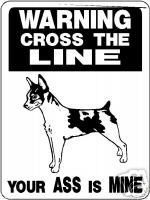 RAT TERRIER GUARD DOG Aluminum Sign Vinyl Decal D827