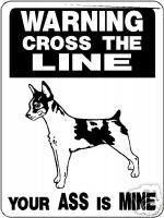 RAT TERRIER GUARD DOG Aluminum Sign Vinyl Decal D827